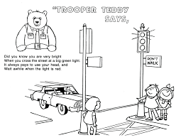 Coloring Page Traffic Light Coloring Page Workplace Safety Road