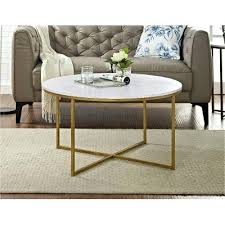 we furniture 36 coffee table with x base marble gold and round inch