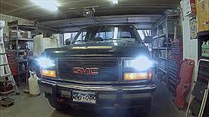HID headlights 88-98 chevy gmc k1500 - YouTube