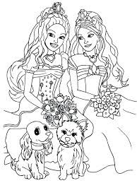 Barbie Doll Coloring Pages Style Dress Barbie Doll Coloring Pages