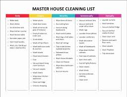 Examples Of Cleaning Schedules House Cleaning Template Free Lovely Amy S Notebook 5