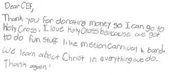 Thank You For Donating Thank You Notes Catholic Education Foundation