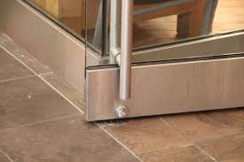 manual doors on an accessible route must have a smooth surface on the push side with no protruding hardware within 254 mm 10 in of the floor or ground