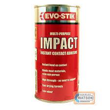 ml evo stik impact instant contact adhesive multi purpose glue image is loading 500ml evo stik impact instant contact adhesive multi