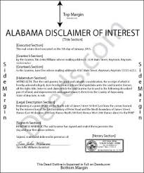 relinquish rights to property form alabama disclaimer of interest forms deeds com
