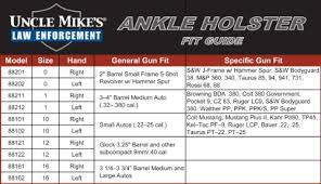 Uncle Mikes Pocket Holster Size Chart Uncle Mikes Holster Fit Chart Thelifeisdream