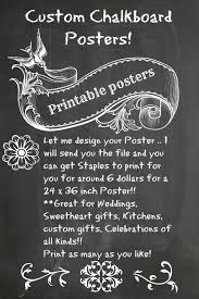 decorative chalkboards for various functions. NEW Custom Printable Chalkboard Posters Decorative Chalkboards For Various Functions E