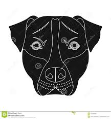 Dog Breed Staffordmuzzle Of Stafford Single Icon In Black Style