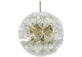 1960s german sputnik dandelion twelve light chandelier
