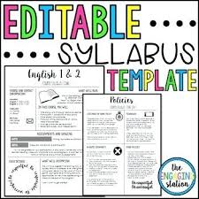 Syllabus Template High School Template For Syllabus Briero Me