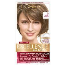 Loreal Light Brown Loreal Paris Excellence Creme Hair Color Light Brown 6 1 Kit