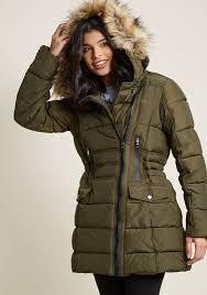 Central Parka Coat In Olive