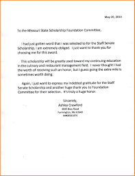 thank you letter for scholarship sample sample thank you letter for your scholarship 2e1305