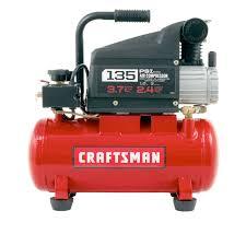 compresor de aire. craftsman - kit de accesorios y compresor aire lubricado con aceite, 3 gal, 1.0 hp, 135 psi máximo
