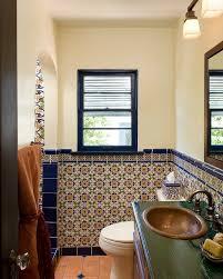 small bathroom wall mirrors. Mexican Style Bathroom Mediterranean With Ceramic Tile Wall Mirror  Decorative Small Mirrors B