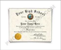 high school diploma name 1980s fake high school diploma printed with the designs you see here