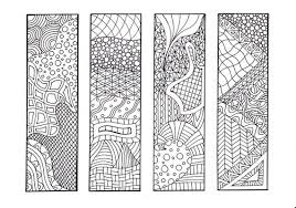 Bookmark Designs To Print Zentangle Inspired Printable Coloring Bookmarks 12 Unique Designs To Print And Color