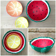 make some papier mache summer fruit bowls easy and fun summer crafts diy projects