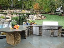 new york metal round table with natural gas outdoor grills patio traditional and counter stone
