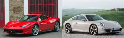 Ferrari 458 Italia Or Porsche 911 Fiat Group World