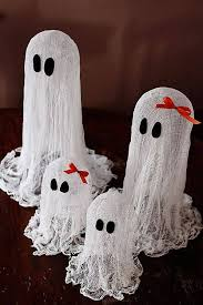 Floating {Cheesecloth} Ghost Easy Cheap Halloween Decoration Spray with  Glow in Dark paint or