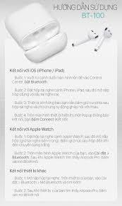 Tai nghe bluetooth JUYUPU BT100 V5.0 cao cấp TWS cảm biến vân tay Airpods 2 tai  nghe không dây nhét tai dành cho iPhone Samsung OPPO VIVO HUAWEI XIAOMI -  HÀNG CHÍNH