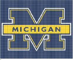 College Football Size Chart Items Similar To Knit Michigan College Football Team