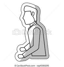 Man Groom Wedding Outline Vector Illustration Eps 10