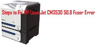 fix hp laserjet cm3530 50 8 fuser error