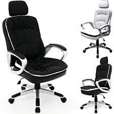 Chaise fauteuil de bureau Confort Noire - Inclinable et réglable en ...