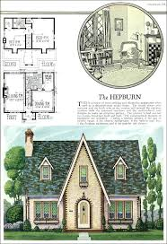 brick cottage home plans house old