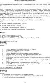 Electrical Engineering Syllabus Old - PDF