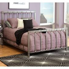 Pewter Bedroom Furniture Alcatraz Iron Bed In Antiqued Rubbed Pewter By Largo Furniture