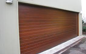 image of wooden garage door panels