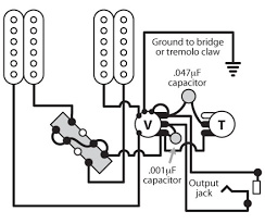 2 humbuckers 1 vol 1 tone 3 way switch and master coil tap there are three things to note about this diagram from stewmac one is that the case of the tone pot is not grounded so i ran a grounding wire between the