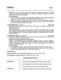 Plant Engineer Resumes Management Professional Resume With Plant Maintenance Engineer Job