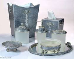 Elegant Bathroom Accessories Sets Home Bling Piece Bathroom