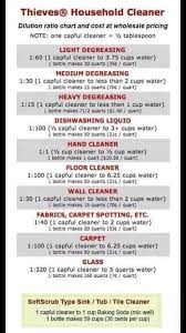 Cleaning Chemical Dilution Chart Pin By Irret Reissul On Oil Me Up Essential Oil