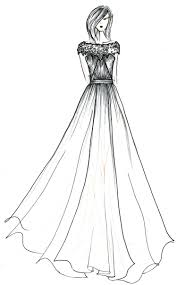 Custom Wedding Dress Sketch By Laura Pruett Of Laura Arts And
