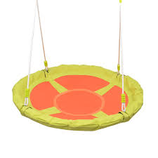 40 kids outdoor round nest hanging rope tree swing children garden play toys