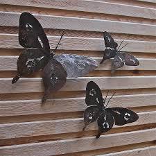 Lawn & Garden:Garden Art Sculpture Horse Decor Beauty Metal Butterfly Garden  Art Wall Decoration