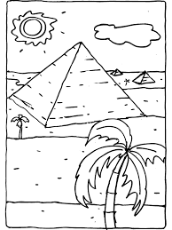 Kleurplaat Piramide In Egypte Kleurplatennl