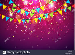 Celebration Vector Illustration With Colorful Party Flag And