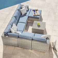Niko 6piece Patio Deep Seating Modular Sectional By Sirio™  PolyvoreNiko Outdoor Furniture