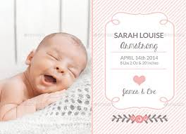 Template For Birth Announcement Birth Announcement Template Baby Girl