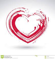 Ic Ne Rouge Tir E Par La Main De Coeur D Amour Signe Affectueux