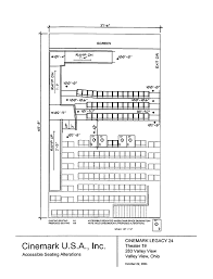 Cinemark Seating Chart Seating Plan For Cinemark Legacy 24 Valley View Ohio