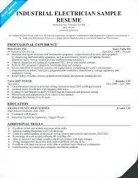 Sample Resume For Electrical Technician Plus Radio Info