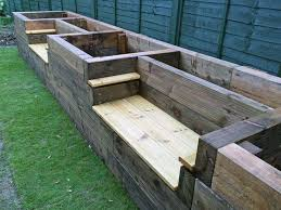 remember if you use sleeper timbers for a gardening project make sure they are chemical free