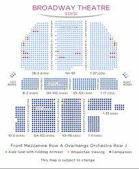 Shubert Theater New York City Seating Chart Broadway Theatre Shubert Organization